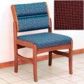 Guest Chair w/o Arms - Medium Oak/Burgundy Fabric