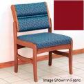 Guest Chair w/o Arms - Medium Oak/Burgundy Vinyl