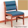 Guest Chair w/o Arms - Medium Oak/Cream Vinyl