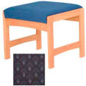 One Person Bench - Light Oak/Blue Arch Pattern Fabric