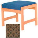 One Person Bench - Light Oak/Khaki Arch Pattern Fabric