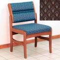 Guest Chair w/o Arms - Medium Oak/Gray Arch Pattern Fabric