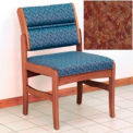 Guest Chair w/o Arms - Medium Oak/Rose Water Pattern Fabric