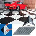 "Vinyl Tile Matting With Adhesive 12""x12"" Diamon Pattern Slate Gray case of 20"