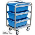 Jamco Stainless Steel Lug Tote Cart YH218-U5-AS-NB - All Welded 3 Lug Tote Capacity, No Totes