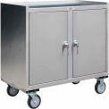 Stainless Steel Mobile Cabinet with 2 Doors & Middle Shelf 36 x 18 1200 Lb Cap