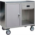 Stainless Steel Mobile Cabinet with 1 Door & 1 Drawer 36 x 18 1200 Lb Cap