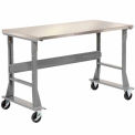 Stainless Steel Mobile Workbench 72x30 With Fixed Legs