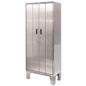 Heavy Duty Stainless Steel-Bi-Fold Cabinet with Legs 36x24x84