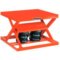 Presto Air Bag Pneumatic Scissor Lift Table 48 x 48 2000 Lb. Capacity