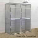 Hallowell BSL363690-R-2A-PL Bulk Tenant Storage Locker Double Tier Add-On 36x36x45