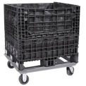 "Steel Dolly For Bulk Container - DKD3230 32x30 Footprint, 2 Swivel, 2 Rigid 5"" Casters"