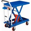 Best Value Mobile Scissor Lift Table with Hook-on Bin 660 Lb. Capacity - 29 x 19 Platform