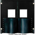 Extra HD Single Panel Traffic Door 4' W x 7' H Black