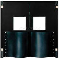 Extra HD Double Panel Traffic Door 8' W x 8' H Black