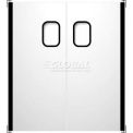 Stainless Steel Double Panel Impact Traffic Door 4' W x 7' H