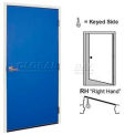 Corrosion Resistant Personnel Door 4' W x 7' H Blue Right Hand Control