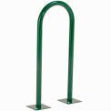 U-Bike Rack Green - 2 Bikes Flange Mount