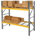"""Husky Rack & Wire L183609650096S Double Slotted Pallet Rack Starter 96""""W x 36""""D x 96""""H"""