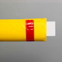 """72""""W Soft Nylon Gate Arm Cover - Yellow Cover/Red Tapes - Pkg Qty 6"""