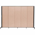 Screenflex 5 Panel Mobile Room Divider - Fabric Color: Tan