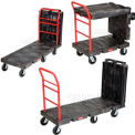 "Rubbermaid Convertible Platform Truck 6"" Rubber Casters"