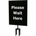 "Black Sign (Please Wait Here - 1 Side) 11""x14"" w/ Adapter"