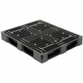Rackable FDA Approved Plastic Pallet Black HDPE 48x40 Fork Capacity 2500 Lbs