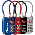"Master Lock® No. 4688D TSA-Accepted Luggage Combination Padlock 2""W Assorted Colors Price Each - Pkg Qty 4"