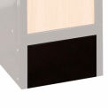 Hallowell Wood/Metal Hybrid Locker Closed Front Base 15x6 Black
