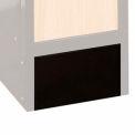 Hallowell KCFB15ME Wood/Metal Hybrid Locker Closed Front Base 15x6 Black