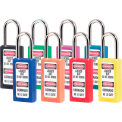 "Master Lock Xenoy Safety Padlock Key Different 3""H Assorted Color of 8"