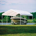 """Shelterlogic Super Max™ Canopy 25773, 12'W X 20'L, 2"""" Frame, 8-Leg, White"""