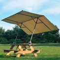 "Table Top Pop-Up Quick Clamp Tilt Mount Canopy 10' x 7'6"" Tan Cover"