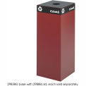 Public Square® Steel Recycling Container - 37 Gallon Burgundy