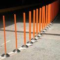 """Surface Mount Flexible Stake 36"""" H Orange"""
