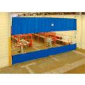 TMI Blue Curtain Wall Partition with Clear Vision Strip 24 x 12 QSCC-288X144