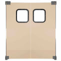 Light to Medium Duty Service Door Double Panel Beige 6' x 8'