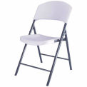 Lifetime® Durastyle Folding Chair, White Granite, Pack of 4