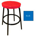 "30""H Perforated Barstool - Blue"
