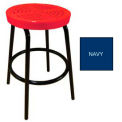 "30""H Perforated Barstool - Navy"