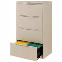 "30"" Premium Lateral File Cabinet 4 Drawer Putty"
