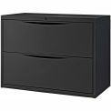 "36"" Premium Lateral File Cabinet 2 Drawer Black"