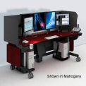 """Whitestone™ Radiology Workstation w/ Envtl. Control - Black 84""""W x 34""""D"""