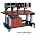 "Dual Tier Cart™ Rectangular w/ Cabinet - Wild Cherry 60""L x 36""W x 44""H"