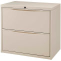 "30"" Premium Lateral File Cabinet 2 Drawer Putty"