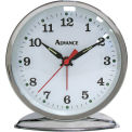Advance Organtick Keywind Alarm Clock - Silver