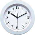 "Advance 8"" Plastic Wall Clock - White"