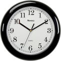 "Advance 8"" Plastic Wall Clock - Black"