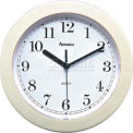 "Advance 8"" Plastic Wall Clock - Almond"